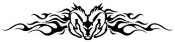 Ram Head with Flames Decal Sticker
