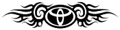 Toyota Tribal Decal Sticker