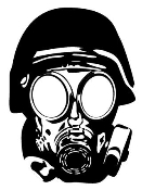Gas Mask v1 Decal Sticker