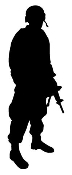 Soldier Silhouette v1 Decal Sticker