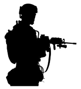 Soldier Silhouette v2 Decal Sticker