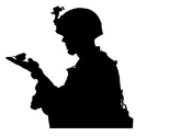 Soldier Silhouette v3 Decal Sticker
