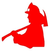 Fireman Silhouette v1 Decal Sticker