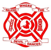 Walking Where The Devil Dances Shield Decal Sticker