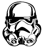 Storm Trooper Decal Sticker