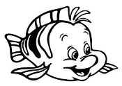 Flounder Decal Sticker