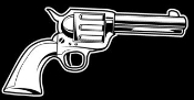 Revolver Decal Sticker