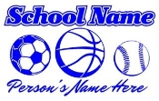 Personalized Soccer-Basketball-Baseball Decal Sticker