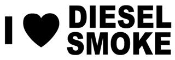 I Love Diesel Smoke Decal Sticker