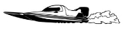 Speedboat Decal Sticker
