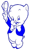 Porky Pig Decal Sticker