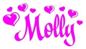 Personalized Name with Hearts Decal Sticker