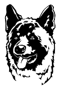 Akita Head Decal Sticker