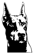 Doberman Head Decal Sticker