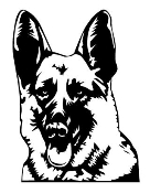 German Shepherd Head Decal Sticker