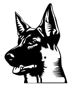 German Shepherd Head v2 Decal Sticker