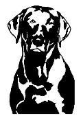 Labrador v4 Decal Sticker