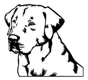 Labrador Head Decal Sticker