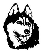 Malamute Head Decal Sticker