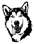 Malamute Head v2 Decal Sticker