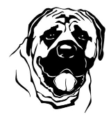 Mastiff Head Decal Sticker