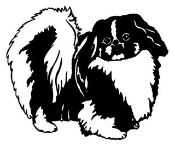 Pekingese Decal Sticker