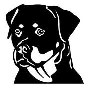 Rottweiler Head Decal Sticker
