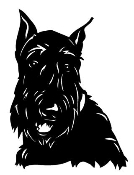 Scottish Terrier Head Decal Sticker