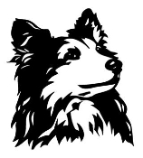 Shetland Sheepdog Head v2 Decal Sticker