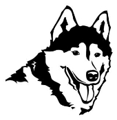 Siberian Husky Head Decal Sticker
