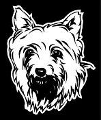 Silky Terrier Head Decal Sticker
