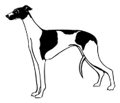 Whippet Decal Sticker
