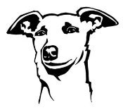 Whippet Head Decal Sticker