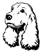 Cocker Spaniel Head Decal Sticker
