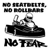 No Fear Go Kart Decal Sticker