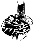 Batman v6 Decal Sticker