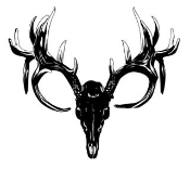 Deer Skull v3 Decal Sticker