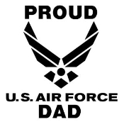 Proud Air Force Dad Decal Sticker