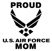 Proud Air Force Mom Decal Sticker