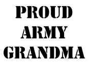 Proud Army Grandma Decal Sticker