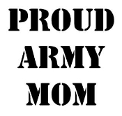 Proud Army Mom Decal Sticker