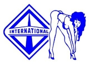 International Diesel with Girl v2 Decal Sticker