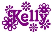 Personalized Name with Flowers Decal Sticker