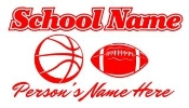 Personalized Basketball-Football Decal Sticker