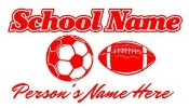 Personalized Soccer-Football Decal Sticker