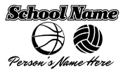 Personalized Basketball-Volleyball Decal Sticker