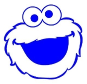 Cookie Monster Decal Sticker