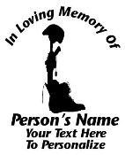 Memorial Battle Cross Fallen Soldier Decal Sticker