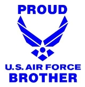 Proud Air Force Brother Decal Sticker