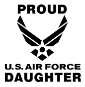 Proud Air Force Daughter Decal Sticker